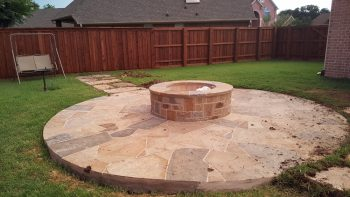fire pit landscaping  in coppell texas